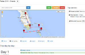 Google maps ready, see map of your trip
